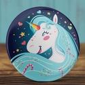 Unikornis kitűző  - cuki bross- cukorka - ló - unicorn - vidám unikornis kitűző  - szív - csillag - kék - lány - , Ruha, divat, cipő, Ékszer, Baba-mama-gyerek, Bross, kitűző, Unikornis kitűző  - cuki bross- cukorka - ló - unicorn - vidám unikornis kitűző  - szív - csillag - ..., Meska