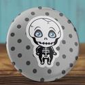 Csonti mágnes - csont hűtőmágnes - horror - mágnes - cuki - pöttyös - fekete - fiú - kisfiú - vicc - ajándék, Dekoráció, Mindenmás, Otthon, lakberendezés, Csonti mágnes - csont hűtőmágnes - horror - mágnes - cuki - pöttyös - fekete - fiú - kisfiú - vicc -..., Meska