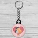 Valentin napi cica kulcstartó - macska kulcstartó - szeretlek - szerelmes ajándék - szerelmes pár - cica - rózsaszín, Dekoráció, Mindenmás, Ékszer, Kulcstartó, Valentin napi cica kulcstartó - macska kulcstartó - szeretlek - szerelmes ajándék - szerelmes pár - ..., Meska