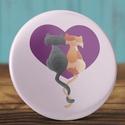 Valentin napi cica mágnes - macska hűtőmágnes - szeretlek - szerelmes ajándék - szerelmes pár - cica - rózsaszín, Dekoráció, Mindenmás, Szerelmeseknek, Otthon, lakberendezés, Valentin napi cica mágnes - macska hűtőmágnes - szeretlek - szerelmes ajándék - szerelmes pár - cica..., Meska