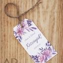 Esküvői köszönőkártya - virágos köszönőkártya - kísérőkártya - köszönöm- ajándékkártya - ajándékkísérő - lila - esküvő, Esküvő, Naptár, képeslap, album, Meghívó, ültetőkártya, köszönőajándék, Ajándékkísérő, esküvői köszönőkártya - virágos köszönőkártya - kísérőkártya - köszönöm- ajándékkártya - ajándékkísé..., Meska