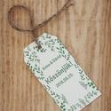 esküvői köszönőkártya - virágos köszönőkártya - kísérőkártya - köszönöm- ajándékkártya - ajándékkísérő - zöld - esküvő, Esküvő, Naptár, képeslap, album, Meghívó, ültetőkártya, köszönőajándék, Ajándékkísérő, esküvői köszönőkártya - virágos köszönőkártya - kísérőkártya - köszönöm- ajándékkártya - ajándékkísé..., Meska