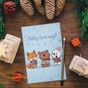 Téli állatok képeslap - karácsonyi képeslap - karácsony - üdvözlőlap - karácsonyi kártya - üdvözlő kártya - róka - medve, Naptár, képeslap, album, Mindenmás, Képeslap, levélpapír, Téli állatok képeslap - karácsonyi képeslap - karácsony - üdvözlőlap - karácsonyi kártya - üdvözlő k..., Meska