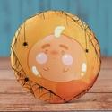 Pumpkin mágnes - cuki hűtőmágnes - mese - tök - halloween - pók - rusztikus kitűző - pókháló - art - pin - cuki - mágnes, Dekoráció, Állatfelszerelések, Férfiaknak, Mindenmás, Pumpkin mágnes - cuki hűtőmágnes - mese - tök - halloween - pók - rusztikus kitűző - pókháló - art -..., Meska
