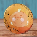 Pumpkin tükör - cuki zsebtükör - mese - tök - halloween - pók - rusztikus tükör - pókháló - art - pin - cuki - ősz, Ékszer, Dekoráció, Mindenmás, Pumpkin tükör - cuki zsebtükör - mese - tök - halloween - pók - rusztikus tükör - pókháló - art - pi..., Meska