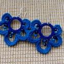 Kékség horgolt fülbevaló, A kék sötétebb árnyalataiból horgoltam ezt a ...