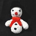 Hóember horgolva, Puha fonalból készítettem ezt a szimpatikus hó...