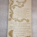 Esküvői Meghívó - MeseMese, Esküvő, Meghívó, ültetőkártya, köszönőajándék, Egyedi, fából, gravírozással készült meghívók.  küld el az elképzelésed, mi megvalósítj..., Meska