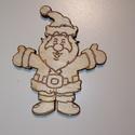Karácsonyi díszek , Dekoráció, Ünnepi dekoráció, Karácsonyi, adventi apróságok, Karácsonyfadísz, Karácsonyi dekoráció, Famegmunkálás, 5 cm magas 95ft/db 10 cm magas 165ft/db  angyalka, télapó, mézi, szarvas, hóember és még sokan máso..., Meska