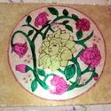 rózsák üvegfestés, Dekoráció, Képzőművészet, Kép, Vegyes technika, Üvegművészet, Festészet, rózsák üvegfestéssel készült,30x40-es méretre falra akasztható,nagyon szépen mutat elöszobába,nappa..., Meska