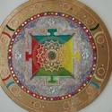 tibeti mandala, Dekoráció, Képzőművészet, Otthon, lakberendezés, Falikép, 50 cm-es tibeti mandala,nagyon szép lakás dekoráció,akár masszázs szalonba,üzletbe ajánlom....., Meska