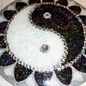 ying-yang mandala, Dekoráció, Esküvő, Otthon, lakberendezés, Nászajándék, 30 cm-es yin-yang mandala,egyen súlyba hozza a dolgokat,nagyon szép ajándék... , Meska