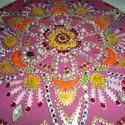 mandala, Dekoráció, Képzőművészet, Otthon, lakberendezés, Falikép, 25 cm-es rózsaszin mandala,gyerek szobába szép ajándék kislányoknak...., Meska
