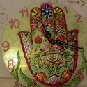 mandala óra, Otthon, lakberendezés, Dekoráció, Ékszer, Falióra, óra, névnapra,szülinapra,22 cm-es mandalaóra, Meska