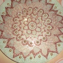 mandala, Dekoráció, Otthon, lakberendezés, Esküvő, Ünnepi dekoráció, 25 cmes mandala,üveglapra festett,falra akasztható,nagyon szép ajándék..., Meska