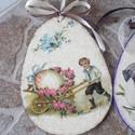 Húsvéti,tavaszi ajtódísz,húsvéti tojás ,dekoráció nagy , Dekoráció, Ünnepi dekoráció, Ajtódísz, kopogtató, Decoupage, transzfer és szalvétatechnika, húsvéti,tavaszi ajtódísz,fali dísz.Húsvéti dekoráció.  15.5x11.5cm az ár 1db-ra vonatkozik. ajánlot..., Meska