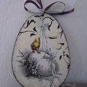 Húsvéti,tavaszi ajtódísz,húsvéti tojás ,dekoráció nagy , Dekoráció, Ünnepi dekoráció, Ajtódísz, kopogtató, húsvéti,tavaszi ajtódísz,fali dísz.Húsvéti dekoráció.  15.5x11.5cm  ajánlott levélként m..., Meska