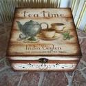 Teásdoboz, doboz,teatartó  ,tároló Rendelhető!,  teás doboz. szalvétatechnikával készült. 15x...