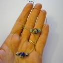 Kék báj, Ékszer, Fülbevaló, Ehhez a karika fülbevalóhoz bronz memória drótot és akasztót használtam. Gyönyörű és kül..., Meska