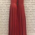 Piros színű, rojtos, valódi bőr fülbevaló, Ékszer, óra, Fülbevaló, A fülbevaló valódi olasz bőrből készített. Színe piros.  Mérete: Bőrrojt hossza 12 cm. , Meska