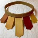 Az ősz színei extravagáns bőr nyaklánc , Ékszer, óra, Nyaklánc, Valódi bőrből készített nyaklánc  Sok színű valódi bőrből készült nyaklánc. A bőrök ..., Meska