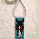 Türkiz, Lovas gyöngy-bőr nyaklánc, Ékszer, Nyaklánc, Lovas gyöngy-bőr nyaklánc  Gyöngyből, valódi bőrből készült nyaklánc a lovak kedvelőinek..., Meska