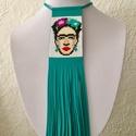 Frida Kahlo gyöngy-bőr nyaklánc, extravagáns, Ékszer, Nyaklánc, Frida Kahlo gyöngy-bőr nyaklánc  Miyuki gyöngyből, valódi bőrből; aprólékos, időigényes ..., Meska