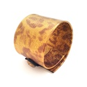 Bronz-arany mintás valódi bőr karkötő, Ékszer, Karkötő, A bőr karkötő saját elgondolás, tervezés alapján készült. Stílusa, egyedisége minden ölt..., Meska