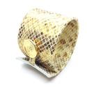 Mintás, fényes, arany hatású valódi bőr karkötő, Ékszer, Karkötő, A karkötő valódi olasz bőrből készült saját tervezéssel, kivitelezéssel.  Színe: arany színhatású, m..., Meska