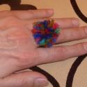 Pihe-puha sok színű pom-pom gyűrű, Ékszer, óra, Gyűrű, Ékszerkészítés, Újrahasznosított alapanyagból készült termékek, Pihe-puha sok színű pom-pom gyűrű.  Igazán egyedi, ez nem jön szembe az utcán! Nagyon bohókás éksze..., Meska