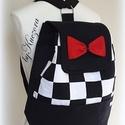 Fekete-fehér hátizsák, 3 az 1-ben táska: hátitáska, hátizsák, válltáska, oldaltáska, Táska, Válltáska, oldaltáska, Hátizsák, Tarisznya, 3 az 1-ben táska, mely fekete-fehér anyagok kombinálásával készült, pici pirossal megbolondítva. Hát..., Meska