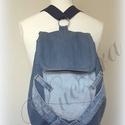 Farmer hátizsák, 3 az 1-ben táska: hátitáska, hátizsák, válltáska, oldaltáska, Táska, Válltáska, oldaltáska, Hátizsák, Tarisznya, 3 az 1-ben táska, mely farmeranyag felhasználásával készült. Hátitáska, oldaltáska és válltáska is e..., Meska