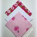 Gyermek textil zsebkendő szett, öko zsebkendő szett - pink, fehér, rózsaszín pöttyös, Ruha, divat, cipő, Szépségápolás, Egészségmegőrzés, Gyermek textil zsebkendő - öko zsebkendő - pink, fehér, rózsaszín pöttyös Finom pamutvászonból készü..., Meska