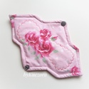 23 cm-es mosható intim betét, betét - rózsaszín, rózsás, Szépségápolás, Baba-mama-gyerek, Egészségmegőrzés, Fürdőszobai kellék, 23 cm-es mosható intim betét, női betét - rózsaszín, rózsás  Test felőli réteg: pamutvászon Mag: jó ..., Meska