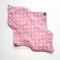23 cm-es mosható intim betét, női betét - rózsaszín, pöttyös, Szépségápolás, Baba-mama-gyerek, Egészségmegőrzés, Fürdőszobai kellék, 23 cm-es mosható intim betét, női betét - rózsaszín, pöttyös  Test felőli réteg: pamutvászon Mag: jó..., Meska