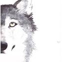 Farkas, Otthon & lakás, Dekoráció, Képzőművészet, Festmény, Akvarell, A/4-es méretű akvarell kép akvarell papíron, Meska
