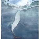 Jónás, Dekoráció, Otthon, lakberendezés, Képzőművészet, Kép, A/4-es méretű akvarell festmény akvarell papíron, Meska