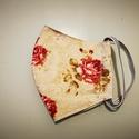 Arcmaszk . Rózsás arcmaszk, szájmaszk , Bőrbarát pamut  textilből készült arcmaszk. A...