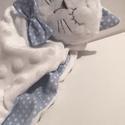 Cica Szundikendő. Textil cica, A legkisebbek számára készítettem. Teljesen gy...
