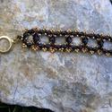 Fekete Gyémánt :) - arany és fekete gyöngy karkötő, Ékszer, Karkötő, Az arany és a fekete mindig szépen mutat együtt, legyen szó ékszerről, ruháról, cipőről, d..., Meska