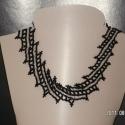 Ezüst diagonál mintás nyaklánc