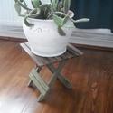 Virágtartó, Bútor, Otthon, lakberendezés, Kaspó, virágtartó, váza, korsó, cserép, Összecsukható virágtartó. Meg van erősítve, de ülésre nem alkalmas!!!!, Meska