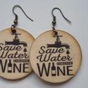 Borkedvelők fülbevalója, Ékszer, óra, Fülbevaló, Szereted a finom borokat? Alig várod, hogy munka után kiengedd a gőzt egy pohár finom bor társa..., Meska