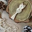 Makramé kulcstartó, Mindenmás, Kulcstartó, Makramé kulcstartó  Méretei:  - hossza: 11,5 cm - szélessége: 3 cm  , Meska