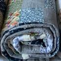 Patchwork takaró, Otthon & lakás, Lakberendezés, Lakástextil, Takaró, ágytakaró, Varrás, Patchwork, foltvarrás, A termék a képen láthatóhoz képest több részletben is eltérhet. 240 x 160 cm méretű  Patchwork vint..., Meska