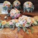 Pasztell Csoda, Barackos rózsaszín - Menta zöld Esküvői, Örök Dekorációs Szett , Esküvő, Esküvői csokor, Esküvői dekoráció, Virágkötés, Pasztell Csoda Barackos rózsaszín -Menta zöld,  Esküvői, Örök Dekorációs Szett   Szett tartalma: 1d..., Meska