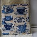 Tea time, Táska, Neszesszer, Hogy a táskádban megtalálj mindent könnyen és gyorsan, használd ezt a teás mintájú neszessz..., Meska
