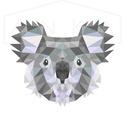 Koala falikép, modern geometrikus, digitális nyomat kerettel, Dekoráció, Otthon, lakberendezés, Képzőművészet, Falikép, Koalát ábrázoló falikép, modern geometrikus, digitális nyomat.  A/4-es méretű (210x297mm) digitális ..., Meska
