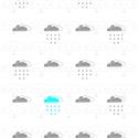 Türkiz és szürke felhők, digitális nyomat kerettel, Dekoráció, Otthon, lakberendezés, Képzőművészet, Falikép, Türkiz és szürke színű felhőket ábrázoló falikép, digitális nyomat.  A/4-es méretű (210x297mm) digit..., Meska