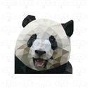 Panda (2) falikép, modern geometrikus, digitális nyomat kerettel, Dekoráció, Otthon, lakberendezés, Képzőművészet, Falikép, Pandát ábrázoló falikép, modern geometrikus, digitális nyomat.  A/4-es méretű (210x297mm) digitális ..., Meska